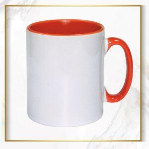 لیوان دسته داخل نارنجی
