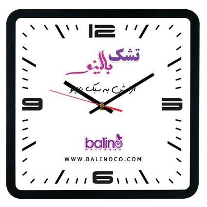 ساعت دیواری کیمیا مشکی